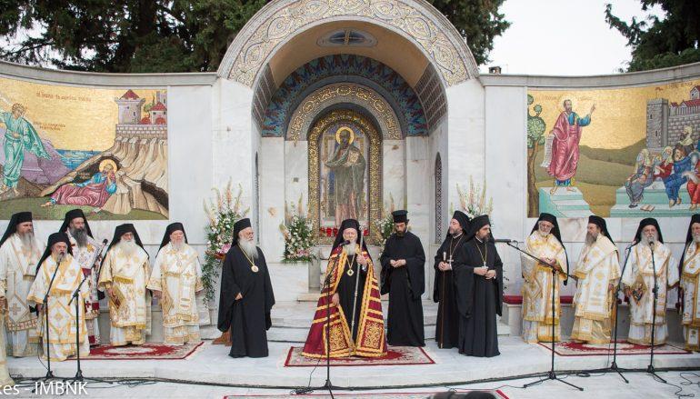 Πατριαρχικός Εσπερινός στο Βήμα του Αποστόλου Παύλου στη Βέροια (ΦΩΤΟ – ΒΙΝΤΕΟ)