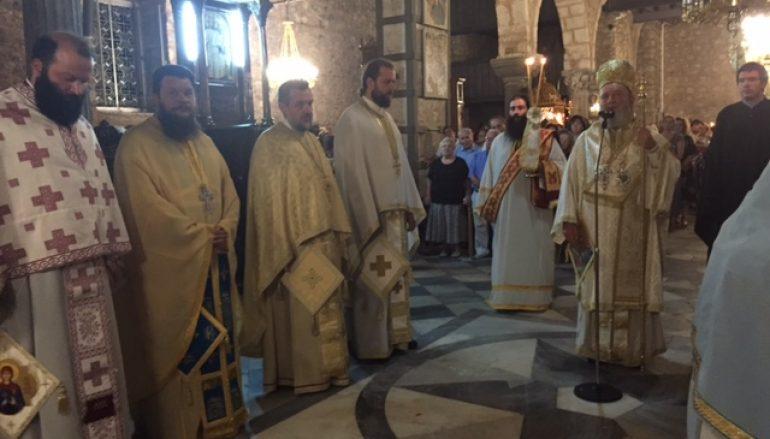 Προεόρτια Ιερά Αγρυπνία για την Αγία Παρασκευή στην Χαλκίδα (ΦΩΤΟ)