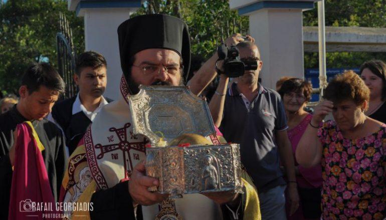 Υποδοχή της Τιμίας Κάρας της Αγ. Ελένης στην Ι. Μ. Μαρωνείας (ΦΩΤΟ)