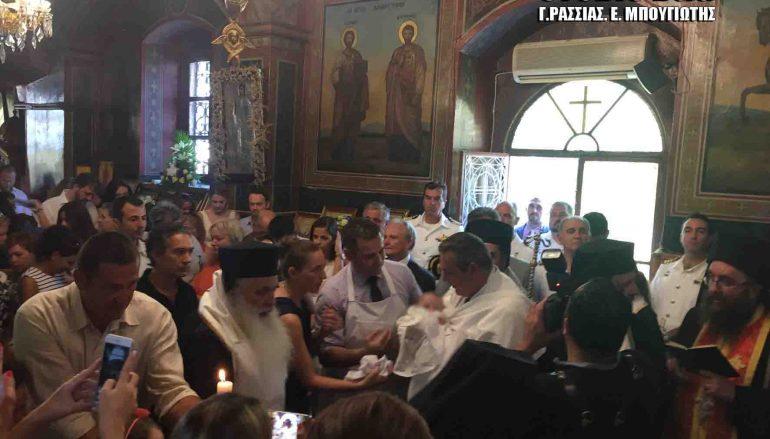 Ο Υπ. Εθνικής Αμύνης βάπτισε το γιο του αδικοχαμένου πιλότου Κώστα Πανανά (ΦΩΤΟ)
