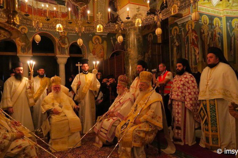 Πολυαρχιερατικό Συλλείτουργο στην Ι. Μονή Σουρωτής προς τιμήν του Αγ. Παϊσίου (ΦΩΤΟ)