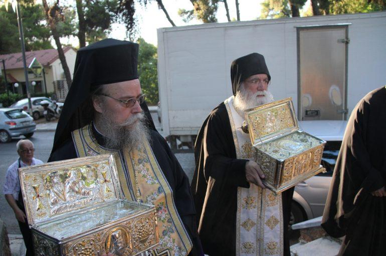 Δύο Ρώσοι Άγιοι στην Αγία Μαρίνα Εκάλης (ΦΩΤΟ)
