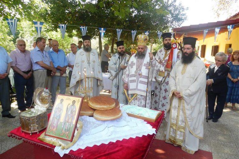 Αρχιερατική Θ. Λειτουργία στο χωριό Άγιοι Ανάργυροι Μουζακίου (ΦΩΤΟ)