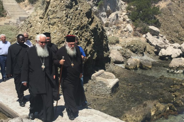 Στην νήσο Άμπελο ο Αρχιεπίσκοπος Ιερώνυμος (ΦΩΤΟ)