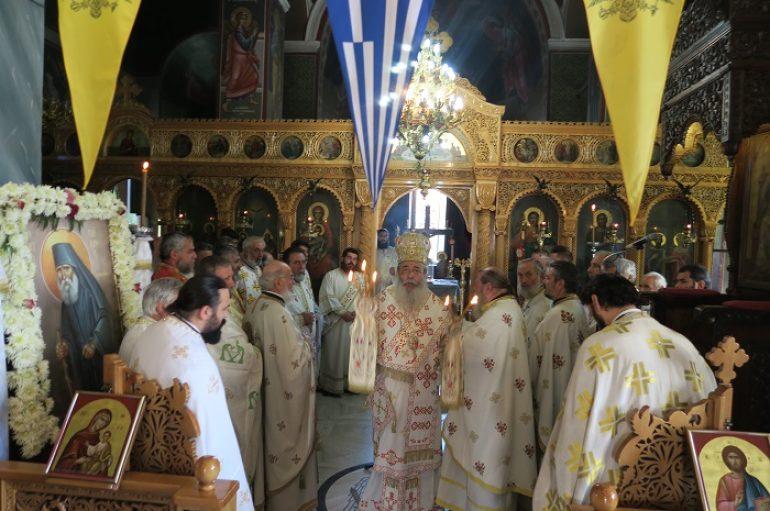 Ο Μητροπολίτης Φθιώτιδος θεμελίωσε Ι. Ναό του Οσίου Παϊσίου στη Μακρακώμη (ΦΩΤΟ)
