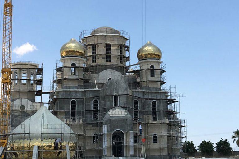 Πέντε «χρυσοί» τρούλοι σε ρωσικό ναό στην Ταμασσό (ΦΩΤΟ)
