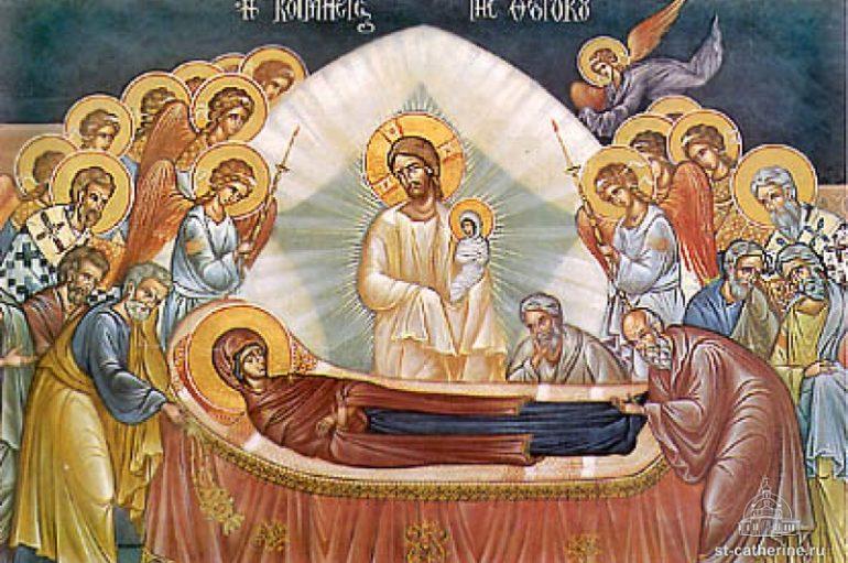 «Ἡ Κοίμησις τῆς Ὑπεραγίας Θεοτόκου» του Σπυρίδωνος Κανέλλου