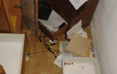 """Διαρρήκτες """"άνοιξαν"""" τα γραφεία της Αγ. Μαρίνας Αφήσσου στο Πήλιο (ΦΩΤΟ)"""