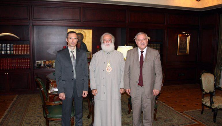 Επίσκεψη των Γενικών Προξένων των Η.Π.Α. και της Ρωσίας στον Πατριάρχη Αλεξανδρείας (ΦΩΤΟ)