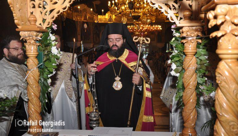 Ο επιτάφιος της Θεοτόκου στην Ι. Μ. Μαρωνείας (ΦΩΤΟ)
