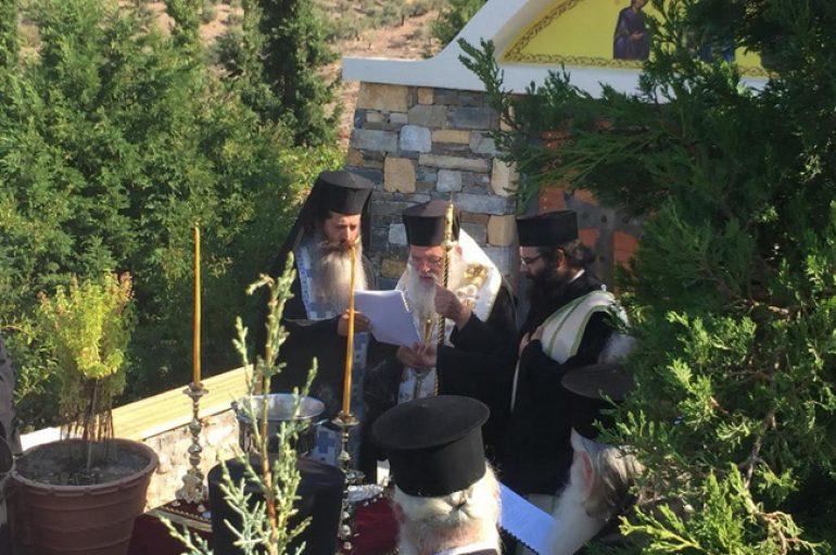 Θυρανοίξια Παρεκκλησίου στη Ζάλτσα Βοιωτίας από τον Αρχιεπίσκοπο (ΦΩΤΟ)