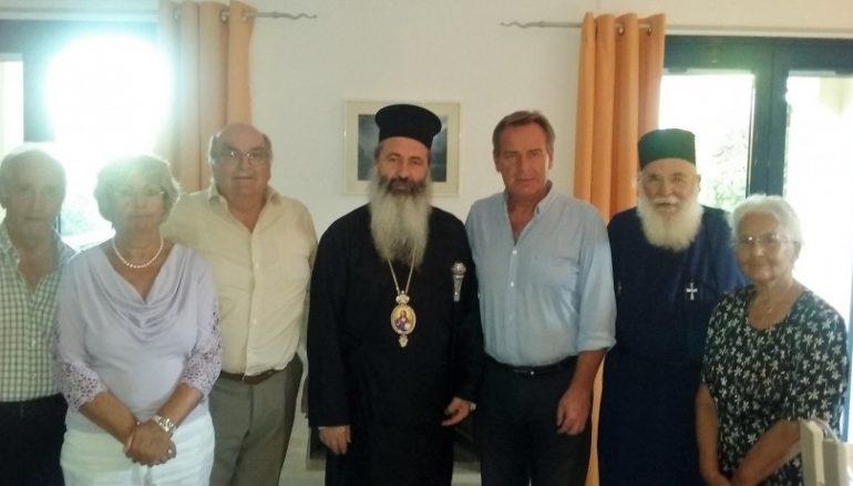 Σύσκεψη του Μητροπολίτη Κεφαλληνίας στην Οικία του Prof Heinz Warnecke