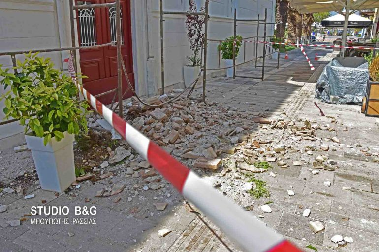 Κατέρρευσε τμήμα του Αγίου Νικολάου στο Ναύπλιο (ΦΩΤΟ – ΒΙΝΤΕΟ)