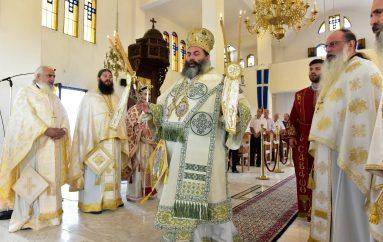 Ο Μητροπολίτης Λαγκαδά στον Ι. Ναό του Οσίου Πορφυρίου του Καυσοκαλυβίτου (ΦΩΤΟ)