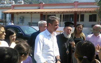 Ο Μητροπολίτης Χαλκίδος παραμένει με τους κατοίκους της πυρόπληκτης Εύβοιας (ΦΩΤΟ)