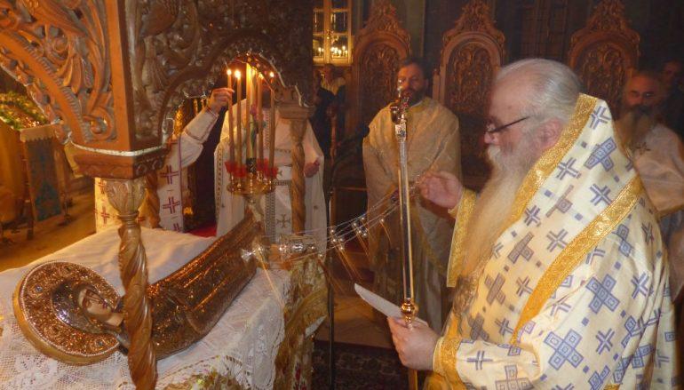 Καστορίας Σεραφείμ: «Η Παναγία είναι αυτή που σκεπάζει και στηρίζει την Ελλάδα μας» (ΦΩΤΟ – ΒΙΝΤΕΟ)