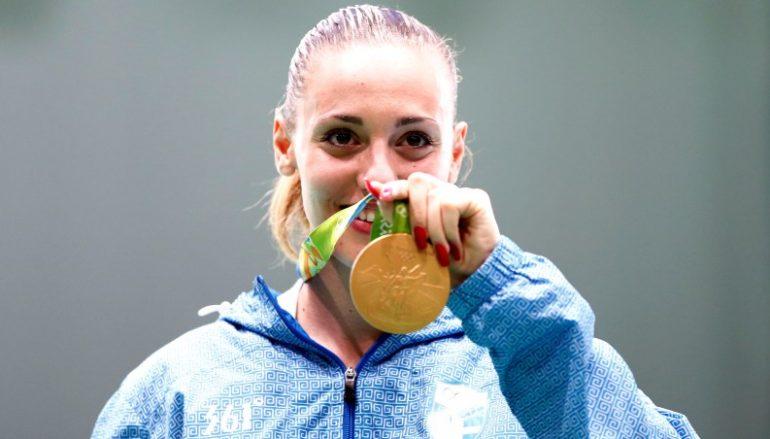 Το τάμα της χρυσής Ολυμπιονίκη