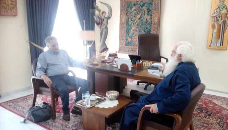 Επίσκεψη του Γεν. Γραμματέα του Υπουργείου Εσωτερικών στον Μητροπολίτη Δημητριάδος