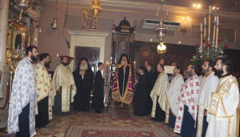 Αρχιερατικός Εσπερινός στο Ιερό Προσκύνημα του Αγίου Σπυρίδωνος (ΦΩΤΟ)