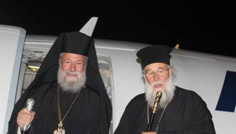 Αφίχθη στην Κέρκυρα ο Αρχιεπίσκοπος Κύπρου Χρυσόστομος (ΦΩΤΟ)