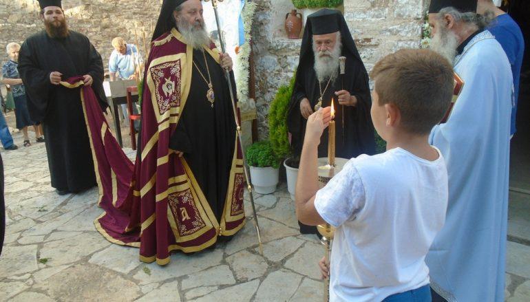Εσπερινός του Γενεθλίου της Θεοτόκου στην Ι. Μονή Φιλοκαλίου  (ΦΩΤΟ)