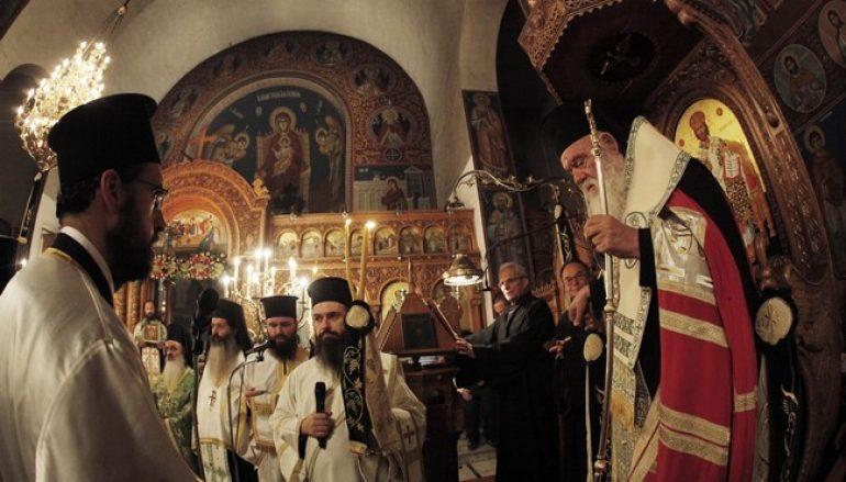 Ο Αρχιεπίσκοπος Αθηνών στον Ι. Ν. Εσταυρωμένου Ταύρου (ΦΩΤΟ)