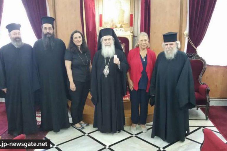 Η Lena Carrer επισκέφθηκε το Πατριαρχείο Ιεροσολύμων (ΦΩΤΟ)
