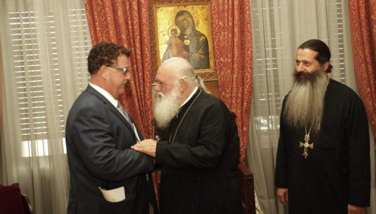 Ο Υπουργός της Γερμανίας κ. Φούχτελ στον Αρχιεπίσκοπο Αθηνών (ΦΩΤΟ)