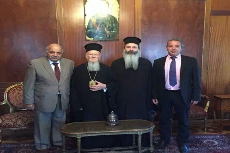 Συνάντηση Μητροπολίτη Κεφαλληνίας με τον Οικουμενικό Πατριάρχη