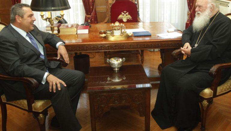 Να υπάρξει διάλογος από μηδενική βάση συμφώνησαν Αρχιεπίσκοπος και Υπουργός Αμύνης (ΦΩΤΟ-ΒΙΝΤΕΟ)