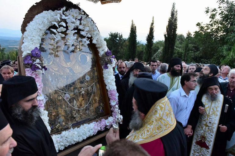 Υποδοχή της Παναγίας της Γοργοϋπηκόου στην Ι. Μ. Λαγκαδά (ΦΩΤΟ)