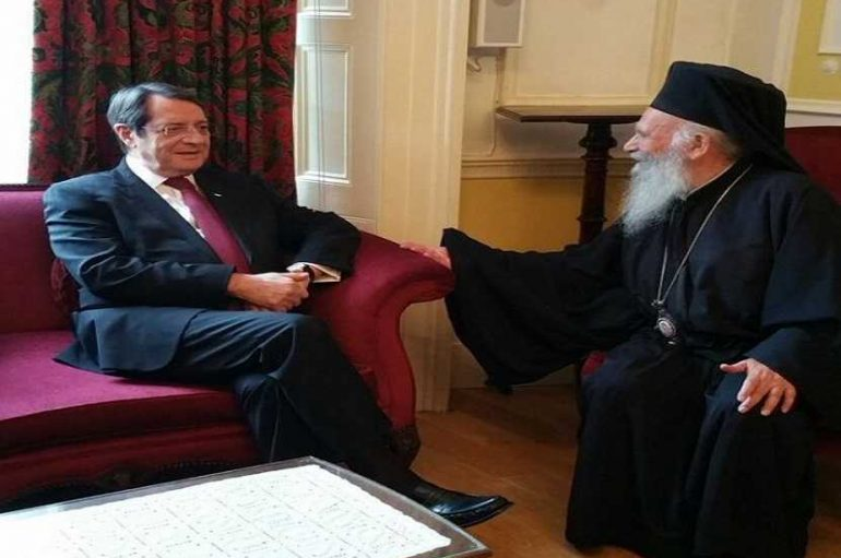 Ο Πρόεδρος της Δημοκρατίας Κύπρου  συναντήθηκε με τον Αρχιεπίσκοπο Θυατείρων