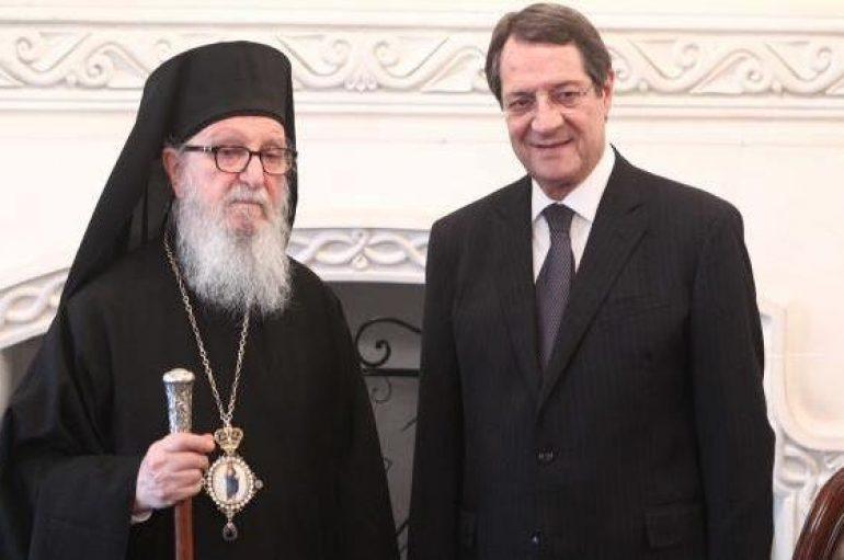 Ο Πρόεδρος της Δημοκρατίας Κύπρου συναντήθηκε με τον Αρχιεπίσκοπο Αμερικής