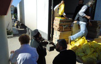 Διανομή τροφίμων στην Ι. Μ. Μαρωνείας (ΦΩΤΟ)