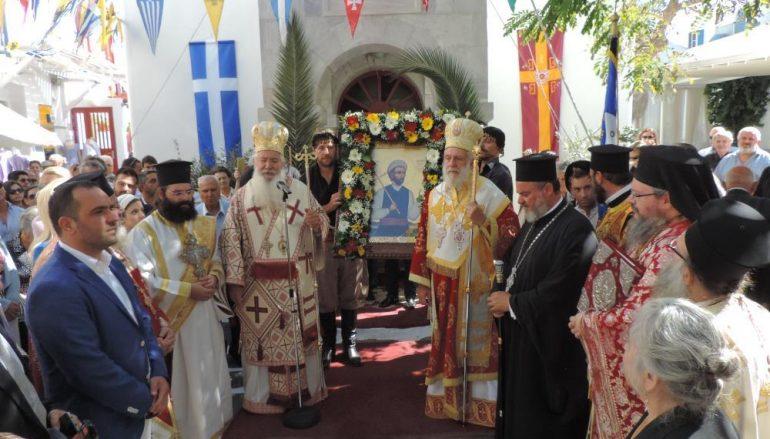 Λαμπρός εορτασμός της μνήμης του Αγίου Νεομάρτυρος Μανουήλ στη Μύκονο (ΦΩΤΟ)