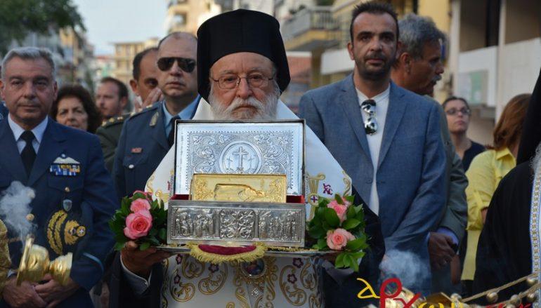 Πάνδημη υποδοχή της χειρός του Αγ. Χαραλάμπους στην Τρίπολη (ΦΩΤΟ)