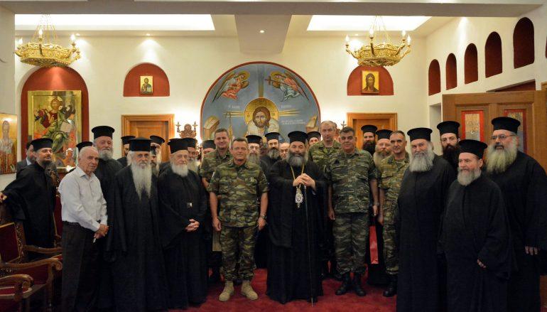 Επίσκεψη του Διοικητού της 1ης Στρατιάς και των Συνάξεων των Ιεροκηρύκων στην Ι. Μ. Λαγκαδά (ΦΩΤΟ)