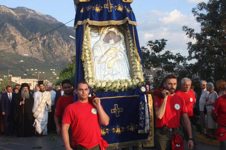 Η Καλαμάτα υποδέχθηκε την Παναγία Δημιοβίτισσα (ΦΩΤΟ – ΒΙΝΤΕΟ)