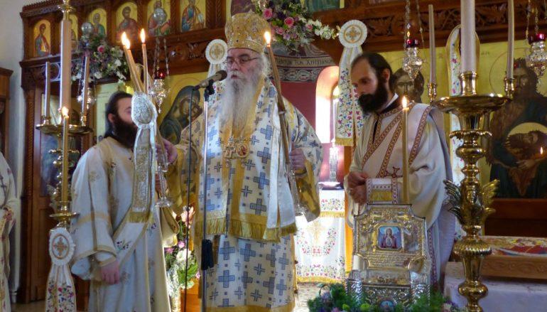 Ο Μητροπολίτης Καστορίας στην Ιερά Μονή Παναγίας Φανερωμένης (ΦΩΤΟ)