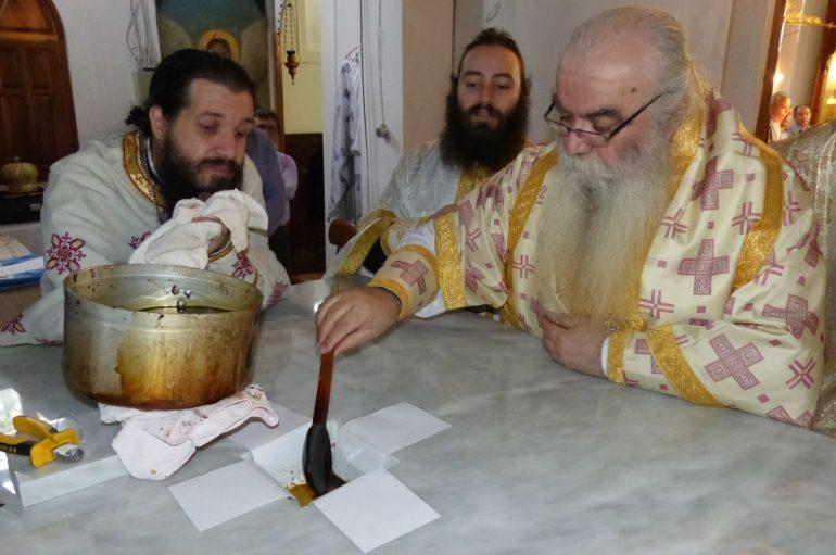 Ακολουθία επί Διασαλεύσει Αγίας Τραπέζης στον Αετό Καστοριάς (ΦΩΤΟ)