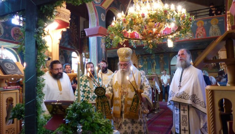 Ο εορτασμός της Υψώσεως του Σταυρού στην Κορομηλιά (ΦΩΤΟ)
