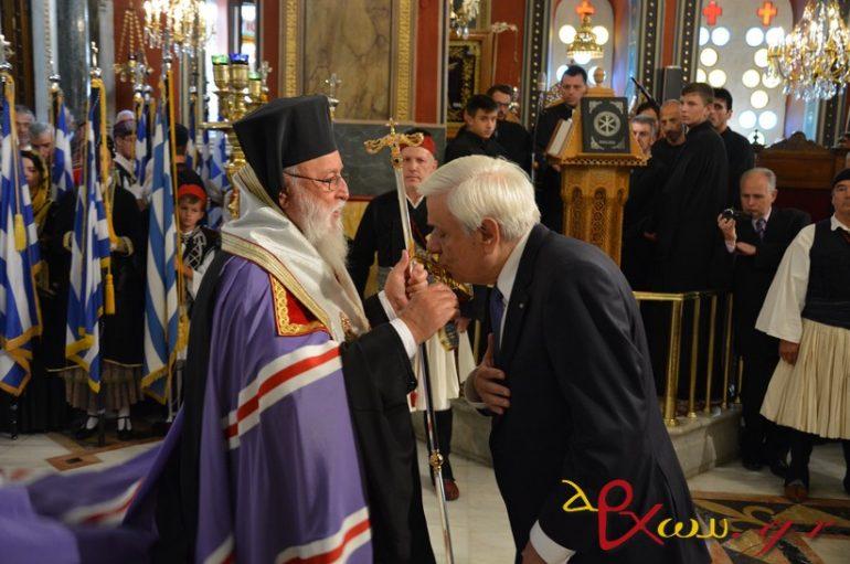 Ο Πρόεδρος της Δημοκρατίας στην Επέτειο Αλώσεως της Τριπολιτσάς (ΦΩΤΟ)