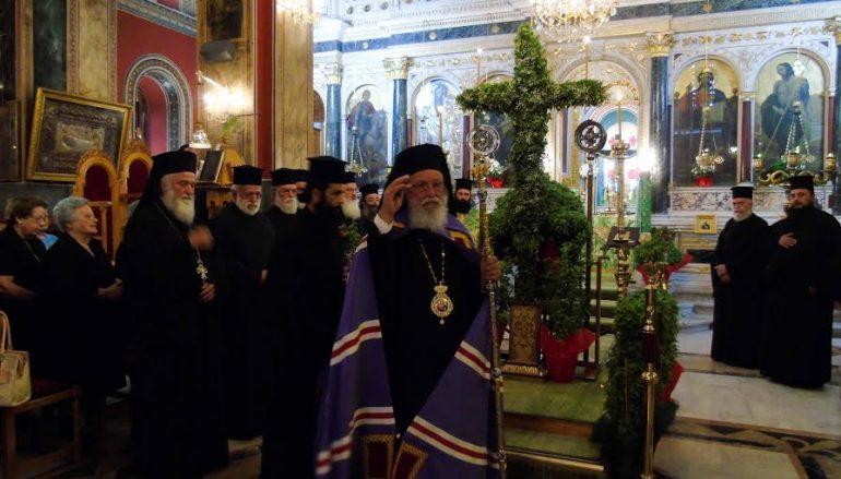 Οι Χαιρετισμοί του Τιμίου Σταυρου από τον Μητροπολίτη Μαντινείας (ΦΩΤΟ)