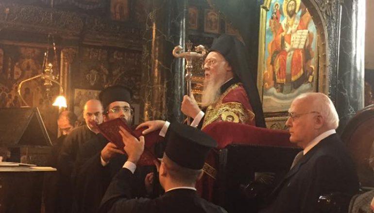 Ο Οικουμενικός Πατριάρχης στον Ι. Ναό Αγίου Δημητρίου Ξυλόπορτας (ΦΩΤΟ)
