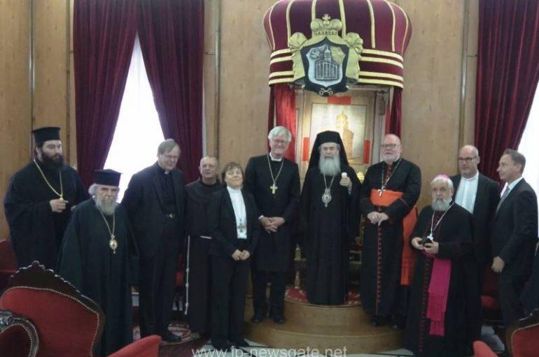Ρωμαιοκαθολικοί και Λουθηριανοί αξιωματούχοι επισκέφθηκαν το Πατριαρχείο Ιεροσολύμων (ΒΙΝΤΕΟ-ΦΩΤΟ)