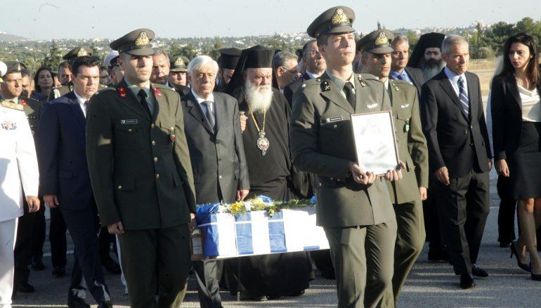 Ο Αρχιεπίσκοπος στην υποδοχή των λειψάνων των πεσόντων του Νοράτλας (ΦΩΤΟ)