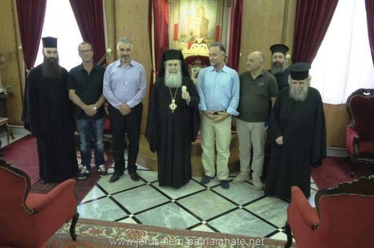 Εκπρόσωποι της ΕΥΔΑΠ στον Πατριάρχη Ιεροσολύμων (ΦΩΤΟ – ΒΙΝΤΕΟ)