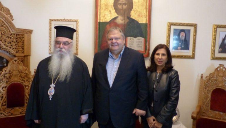 Ο Ευάγγελος Βενιζέλος επισκέφτηκε τον Μητροπολίτη Καστορίας (ΦΩΤΟ)