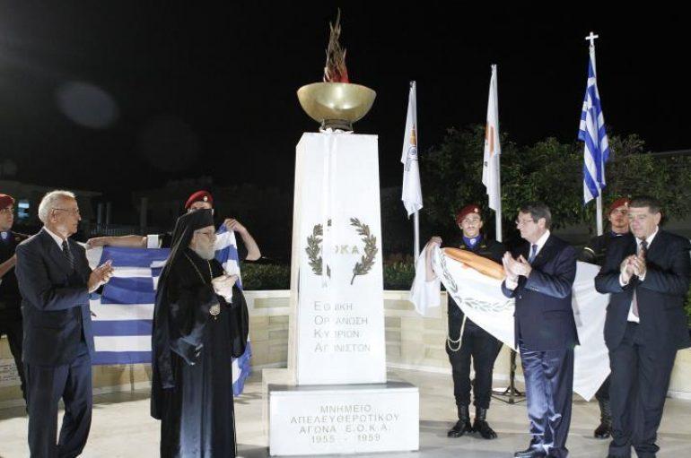 Αποκαλυπτήρια Μνημείου για τους Αγωνιστές της ΕΟΚΑ στο Παραλίμνι (ΦΩΤΟ)