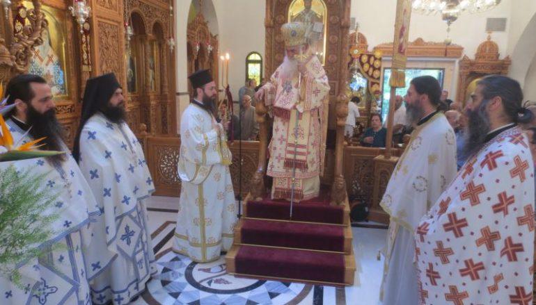 Ο Μητροπολίτης Σιατίστης στον Ι. Ν. Αγίου Δημητρίου Μπραχαμίου (ΦΩΤΟ)